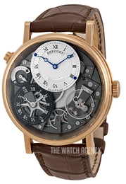 Breguet Tradition Silver colored/Leather Ø40 mm 7067BR-G1-9W6