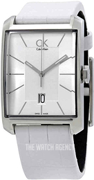 Calvin Klein Window Silver colored/Leather Ø31 mm K2M21120