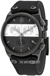 Calvin Klein Eager Black/Leather Ø41 mm K4B384B3