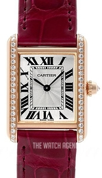 Cartier Tank Louis Silver colored/Leather WJTA0010