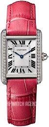 Cartier Tank Louis Silver colored/Leather WJTA0011