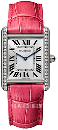 Cartier Tank Louis Silver colored/Leather WJTA0015