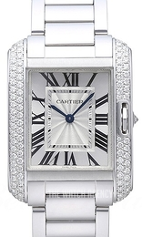 Cartier Tank Anglaise Silver colored/18 carat white gold WT100028