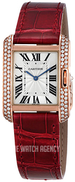 Cartier Tank Anglaise Silver colored/Leather WT100029
