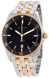 Certina DS First Black/Yellow gold toned steel Ø41 mm C014.410.22.051.00