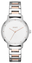 DKNY White/Rose gold colored steel Ø32 mm NY2643