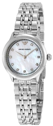 Emporio Armani Dress White/Steel Ø26 mm AR1803