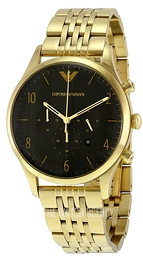 Emporio Armani Classic Black/Yellow gold toned steel Ø41 mm AR1893