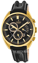 Festina Black/Leather Ø42 mm F20268-3