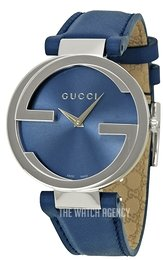 6dfe30b3b1b Gucci Interlocking Blue Leather Ø37 mm YA133322