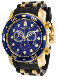 Invicta Pro Diver Blue/Yellow gold toned steel Ø48 mm 17882