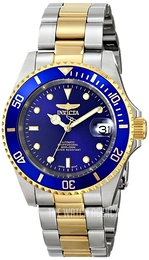 Invicta Pro Diver Blue/Yellow gold toned steel Ø40 mm 8928OB