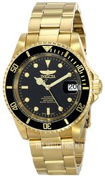 Invicta Pro Diver Black/Yellow gold toned steel Ø40 mm 8929OB