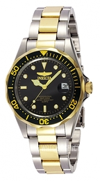 Invicta Pro Diver Black/Yellow gold toned steel Ø39 mm 8934