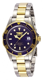 Invicta Pro Diver Blue/Yellow gold toned steel Ø39 mm 8935