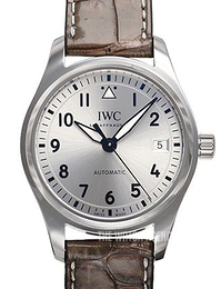 IWC Pilots Classic Silver colored/Leather Ø36 mm IW324007