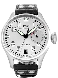 IWC Pilots Classic Silver colored/Leather Ø46 mm IW500906