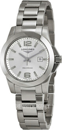 Longines Conquest Ladies Silver colored/Steel Ø29.5 mm L3.277.4.76.6