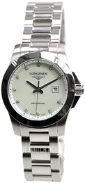 Longines Conquest Ladies White/Steel Ø29.5 mm L3.277.4.87.6