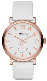 Marc by Marc Jacobs Baker White/Leather Ø36 mm MBM1283