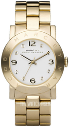 Marc by Marc Jacobs Amy White/Yellow gold toned steel Ø37 mm MBM3056
