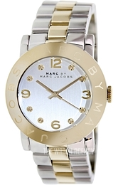 Marc by Marc Jacobs Amy Silver colored/Yellow gold toned steel Ø36 mm MBM3139