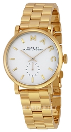 Marc by Marc Jacobs Baker White/Yellow gold toned steel Ø36.5 mm MBM3243