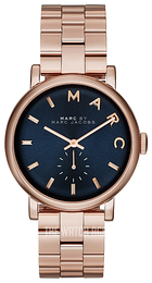 Marc by Marc Jacobs Baker Blue/Rose gold colored steel Ø36 mm MBM3330
