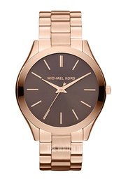 Michael Kors Runway Brown/Rose gold colored steel Ø42 mm MK3181