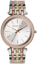 Michael Kors Darci Silver colored/Rose gold colored steel Ø39 mm MK3203