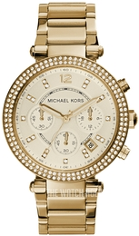 Michael Kors Parker Champagne colored/Yellow gold toned steel Ø38 mm MK5354