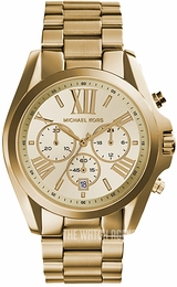 Michael Kors Bradshaw Yellow/Yellow gold toned steel Ø43 mm MK5605