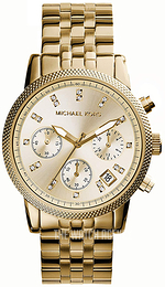 Michael Kors Ritz Champagne colored/Yellow gold toned steel Ø36 mm MK5676