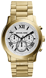 Michael Kors Cooper White/Yellow gold toned steel Ø39 mm MK5916