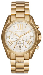 Michael Kors Bradshaw White/Yellow gold toned steel Ø43 mm MK6266