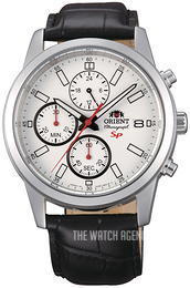 Orient Sporty Silver colored/Leather Ø42 mm FKU00006W0