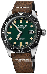 Oris Diving Green/Leather Ø42 mm 01 733 7720 4057-07 5 21 02