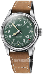 Oris Aviation Green/Leather Ø40 mm 01 754 7741 4087-Set LS