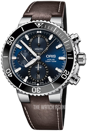 Oris Diving Blue/Leather Ø45.5 mm 01 774 7743 4155-07 5 24 10EB