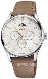 Oris Culture Silver colored/Leather Ø40 mm 01 781 7729 4031-07 5 21 32FC