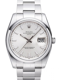 Rolex Perpetual Date Silver colored/Steel Ø34 mm 115200-0006