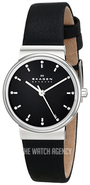 Skagen Ancher Black/Leather Ø26 mm SKW2193