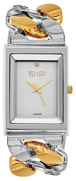 So & Co New York SoHo Silver colored/Yellow gold toned steel 5094.4