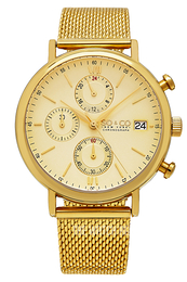 So & Co New York Monticello Champagne colored/Yellow gold toned steel Ø42 mm 5266M.4