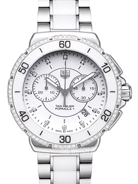 TAG Heuer Formula 1 Steel And Ceramic Chronograph Diamonds White/Ceramic Ø41 mm CAH1213.BA0863