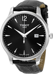 Tissot Tradition Gent Black/Leather Ø42 mm T063.610.16.087.00