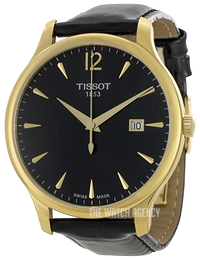Tissot Tradition Gent Black/Leather Ø42 mm T063.610.36.057.00
