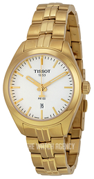 Tissot PR 100 Lady Silver colored/Yellow gold toned steel Ø33 mm T101.210.33.031.00