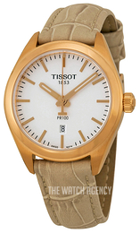 Tissot PR 100 Lady Silver colored/Leather Ø33 mm T101.210.36.031.00