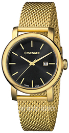 Wenger Urban Classic Black/Yellow gold toned steel Ø34 mm 01.1021.120